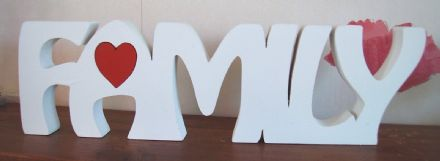FAMILY freestanding wooden plaque/ sign